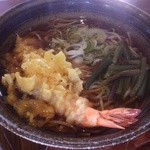 信州蓼科 麺 - 天ぷらそば(500円)(2013.9現在)