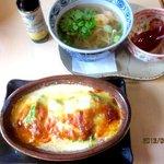 旨辛喰館 祭今日 - 料理写真:豆腐とアボカドの奄美味噌グラタン&ミニフォーランチ!