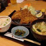 まる兵衛 - アジフライ定食