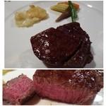 博多和田門 - メインは伊万里牛のフィレ炭火焼です。       人気の品だけあり、お肉も柔らかくて甘いですね。コースの中ですので量が少なめなのが残念。。