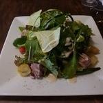 ビストロ・ポワソン・ルージュ - パスタランチのサラダ・・相変わらず内容もボリュームも素晴らしい。