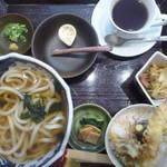 橙や - 料理写真:天丼セットとコーヒー