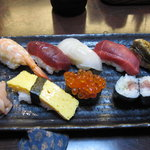川嶋家寿司本店 - セットの握り鮨