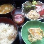 2158170 - 花車御膳(ご飯、豚汁、ガスパチョ、ツナサラダ、南瓜の白和え)