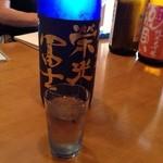 和食堂 たこ井 - 栄光冨士の純米大吟醸酒。甘みと酸味のバランスが秀逸でキレもあります。
