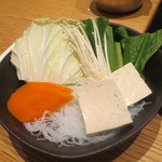 銀座しゃぶ通 好の笹 - 野菜盛り合わせ