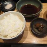 銀座しゃぶ通 好の笹 - ご飯と香の物