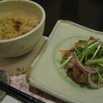 酒菜庵藤右衛門 - 鶏の塩焼きとたけのこご飯