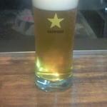 フリスコ - セットのドリンクはビールを選択。備え付けのビールサーバからついでくれます。バーガーに合う!