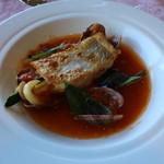 21587214 - 地魚と牡蠣筏の大アサリ バジル風味
