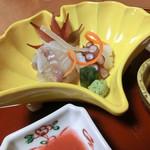 和楽 - <9月夜>造り、瀬戸内産すずき、生蛸