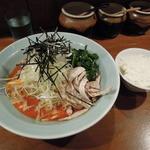 笑の家 - ●ピリ辛葱涼麺(並)+半ライス
