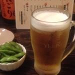 21591045 - 生ビールとお通し