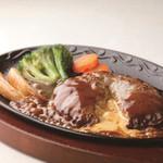 ステーキハンバーグ&サラダバー けん - チーズinハンバーグ 1200円(税込1260円)
