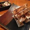 山芋の炙り ~酒盗チーズソースと大分県産麦味噌で~