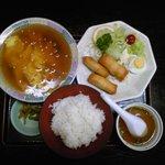 中華料理 哲ちゃん - 料理写真:海老玉焼き・春巻き