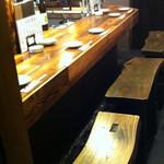 大阪食酒 リエカオ - いろんなお酒が楽しめる居酒屋♪カウンター席でゆったりとした時間をお過ごしください。