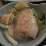 鳥良 - コラーゲン丸鶏鍋取り分け後