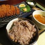 21609076 - 特選ロースとんかつ農膳。雑穀米が美味っ!