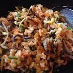 韓国家庭料理 唐辛子 - 混ぜ込んだ後