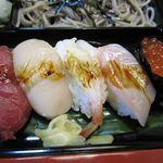 21611445 - 寿司定食のお寿司、ネタもシャリもよかった。