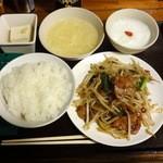 れんげ食堂 - レバニラ炒め定食640円