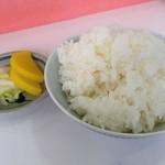 三久ラーメン - ラーメン定食750円のごはんとお漬物☆(第二回投稿分④)