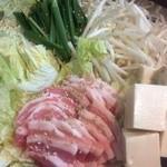 ごちとん - 冬の新メニュー キムチ鍋です!野菜とおいしい豚バラがたっぷり!(店長)