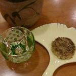 手打ち蕎麦 にし田 - 焼味噌と日本酒