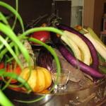フェルム・ソレイユ - 店内に飾られるお野菜達♪