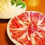 旬味そば 名倉 - 和牛のしゃぶしゃぶ