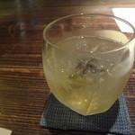 蕎麦懐石 無庵 - 梅酒のソーダ割(530円)