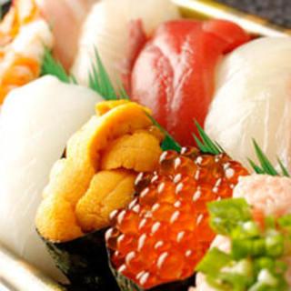 こだわりの高級寿司が食べ放題!!お一人からOK!