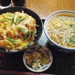 2163416 - カツ丼 800円 + 味噌汁を麺に変更 250円