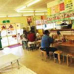金太郎ラーメン - 広い店内。カウンター・テーブル・小上がり。