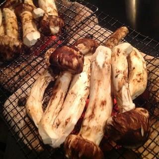 国産松茸七輪焼き