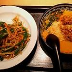 21636926 - 青椒肉絲丼と半坦々麺のセット