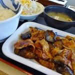 松屋 - 豚と茄子の辛味噌炒め定食(2013年版)