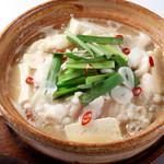 つぼ八 - 料理写真:博多風もつ煮(みそ味) 国産シマチョウを使用した旨味たっぷりのもつ鍋。 714円