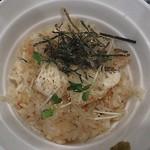 21642361 - 鯛飯、下端に、柚須胡椒が添えてあります。