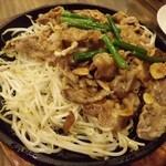 弘Tomorrow - 牛カルビのスタミナ焼630円     (写真は二人前)