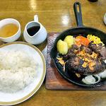 ルックアイランド - 料理写真:ミックスステーキ・ニンニクチップ & Aセット