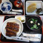 21648469 - うな丼(上)。うなぎ川安(愛知県豊田市足助)食彩賓館撮影