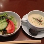 美食倶楽部 一歩 - スープとサラダ