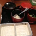 美食倶楽部 一歩 - ポン酢とタレ、大根とネギ