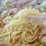 城山食堂 - ねぎチャーシューメン麺拡大