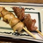 鶏のチョモランマ - 皮 砂肝85円