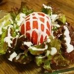 鶏のチョモランマ - 冷しトマトwithポテトサラダ480円
