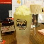 鶏のチョモランマ - シャリシャリパインサワー420円