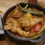 キャンプエクスプレス - 一日分の野菜カレー;チキン2本